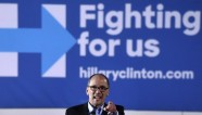 U.S. Labor Secretary Tom Perez speaks in support of U.S. Democratic presidential candidate Hillary Clinton at a campaign rally at the Laborers International Union hall in Las Vegas, Nevada February 18, 2016. REUTERS/David Becker